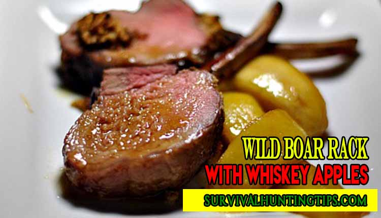 Wild-Boar Rack-with Whiskey Apples