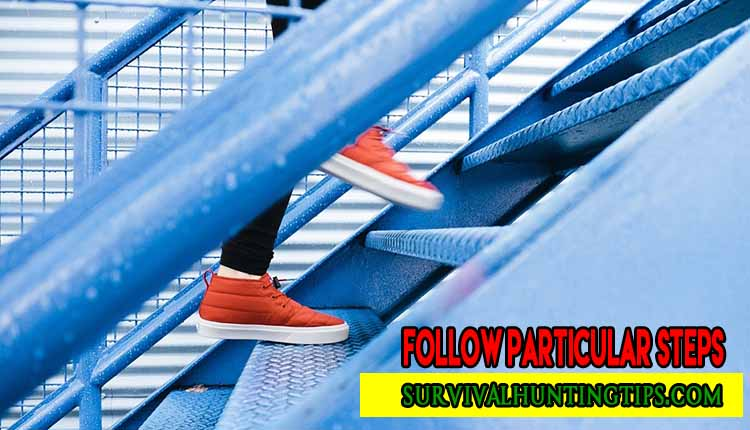 Follow particular steps