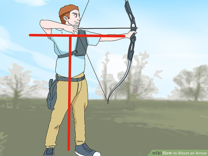 position yourself in the correct shooting position